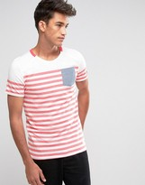 Jack and Jones Striped Pocket T-Shirt