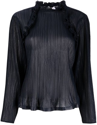 See by Chloe Ruffle-Trim Long-Sleeved Blouse