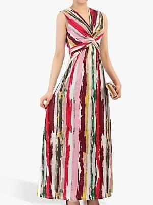 Jolie Moi Twist Front Maxi Dress, Pink Multi