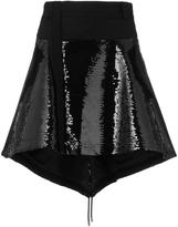 Diesel Black Gold sequined high low skirt