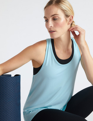 Marks and Spencer Scoop Neck Relaxed Sleeveless Yoga Top