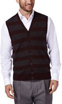 Haggar Men's Classic-Fit 12GG Striped Sweater Vest
