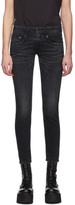 R 13 Black Skinny Boy Jeans