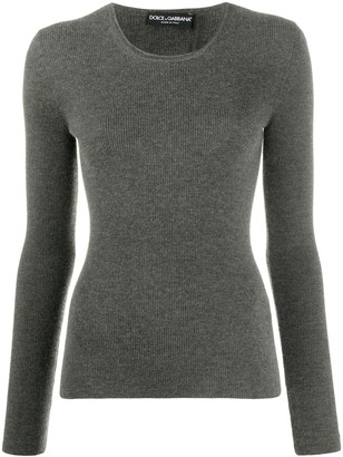 Dolce & Gabbana Ribbed-Knit Stretch Jumper
