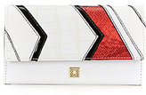 Kate Landry Angled Patchwork Checkbook Wallet
