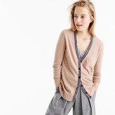 J.Crew Classic V-neck tipped cardigan sweater