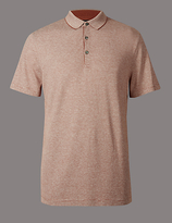 Autograph Cotton Rich Textured Polo Shirt