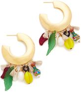 Lizzie Fortunato Cambodian Jungle Hoop Earrings