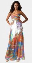Aidan Mattox Retro Swirled Multi Colored Prom Dresses