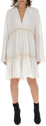 Philosophy di Lorenzo Serafini Pleated Long Sleeve Dress