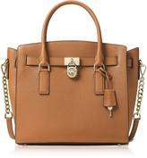 Michael Kors Hamilton Large Acorn Pebbled Leather Satchel Bag