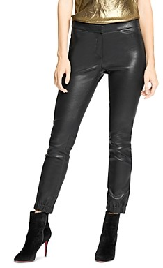 Halston Leather Stretch Leggings