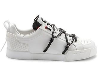 Dolce & Gabbana New Portofino Logo Strap Leather Runners