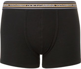 Dolce & Gabbana Ribbed Stretch-cotton Jersey Boxer Briefs - Black