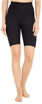 YEAR OF OURS Ribbed Biker Shorts (Black) Women's Shorts