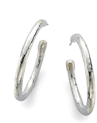 Ippolita Classico Medium Sterling Silver Hammered Hoop Earrings