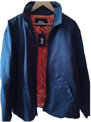 Stussy Navy Polyester Jackets