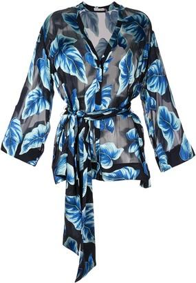 Alice + Olivia Rosario printed kimono topwide long