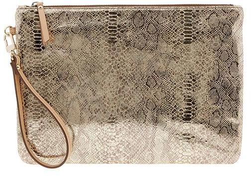 Banana Republic Willow Python Clutch
