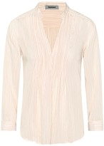 Theavant Pleated Blouse With Pinstripes
