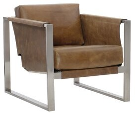 "Bernhardt Segovia 30"" W Top Grain Leather Armchair"
