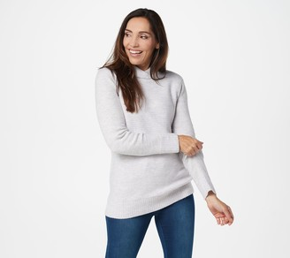 Denim & Co. Shawl Collar Long-Sleeve Tunic Sweater
