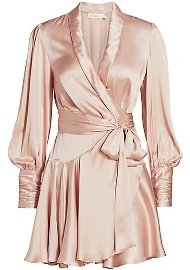 Zimmermann Ladybeetle Silk Wrap Dress