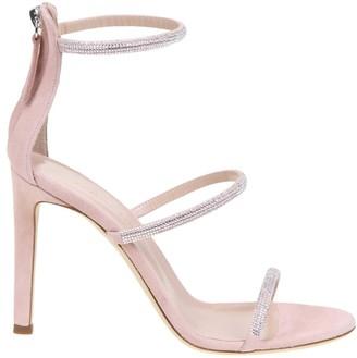 Giuseppe Zanotti Pink Suede Sandal