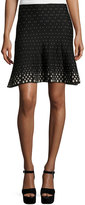Max Studio Diamond-Print A-Line Knit Skirt, Black