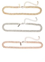 Topshop Women's Set Of 3 Chain Necklaces