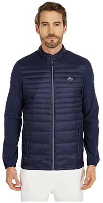 Lacoste Long Sleeve Padded Golf Jacket (Navy Blue/Navy Blue/Navy Blue) Men's Clothing