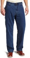 Wolverine Key Apparel Men's Relaxed-Fit Flannel Lined Denim Dungaree