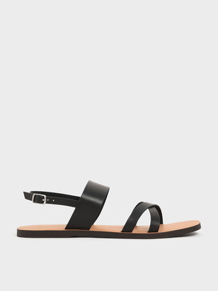 Charles & Keith Thick Strap Flats