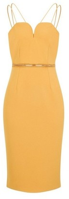 Dorothy Perkins Womens Girls On Film Mustard Yellow Bodycon Dress, Yellow