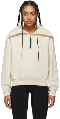 Reebok x Victoria Beckham Off-White Cropped Cowl Pullover