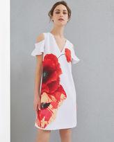 Ted Baker Playful Poppy cutout shoulder dress