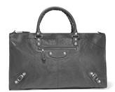 Balenciaga Giant 12 Work Textured-leather Tote - Gray