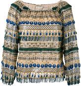 Alice + Olivia Alice+Olivia - embellished blouse - women - Nylon/Polyester/Spandex/Elastane - S