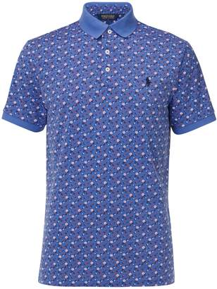 Ralph Lauren Polo Golf by Short Sleeve Floral Print Polo Shirt, Blue/Multi