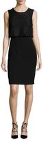 Ava & Aiden Lace Overlayer Top Sheath Dress