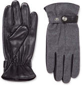 Dents Guildford Mélange Flannel And Leather Gloves - Gray