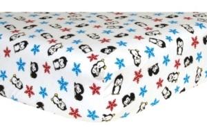 Trend Lab Penguin Flannel Crib Sheet Bedding