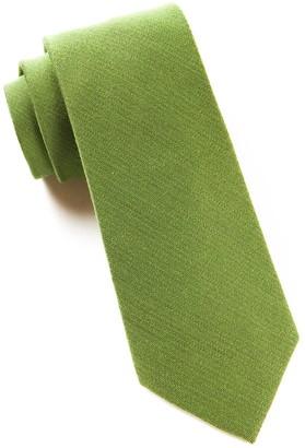 Tie Bar Solid Wool Moss Tie