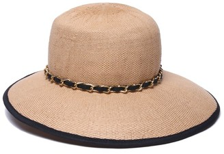 Physician Endorsed Women's Black Sand Asymmetrical Brim Sun Hat Rated UPF 50+ for Max Sun Protection