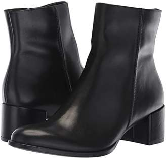 Ecco Shape 35 Block Ankle Boot (Black Cow Leather) Women's Boots