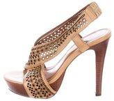 Diane von Furstenberg Leather Crossover Platform Sandals