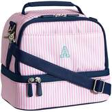 Pottery Barn Teen Gear-Up Pink Mini Stripe Dual Compartment Lunch Bag