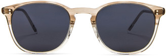 Oliver Peoples Finley Vintage Sunglasses in Military & Washed Blue | FWRD