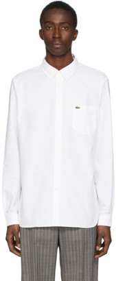 Lacoste White Regular Fit Oxford Shirt