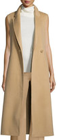 Theory Tremayah DF New Divide Long Vest, Palomino